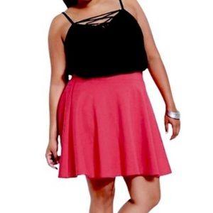 Torrid Hot Pink Ponte Skater Skirt Size 1
